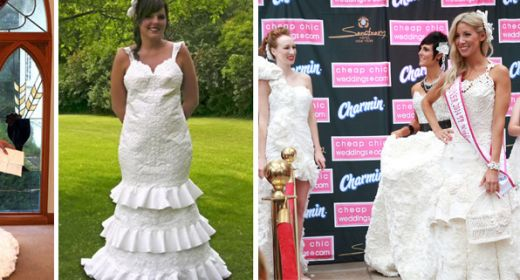 Huh? A Chic Wedding Dress Made From Toilet Paper?