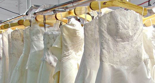 Trash your dress trend for Professional wedding dress cleaning