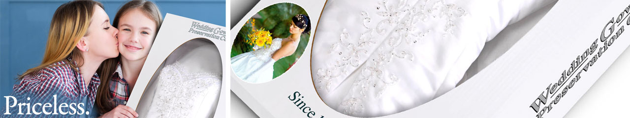clean and preserve your wedding gown after your wedding day