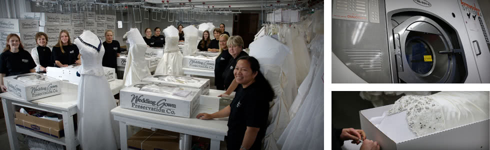 Wedding dress preservation process overview for Wedding dress preservation company