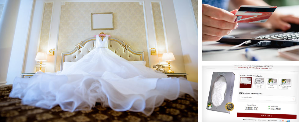 ordering your wedding gown preservation kit
