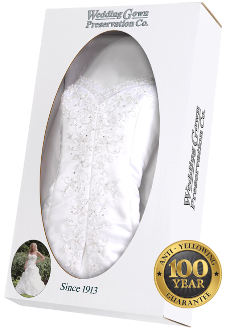 wedding dress preservation cleaning wedding gown
