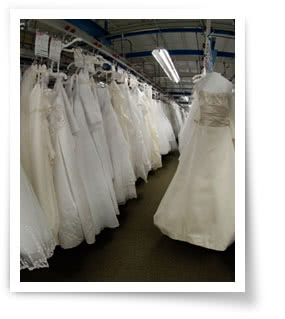 Arrival of your dress at the preservaiton facility for Wedding dress preservation kit