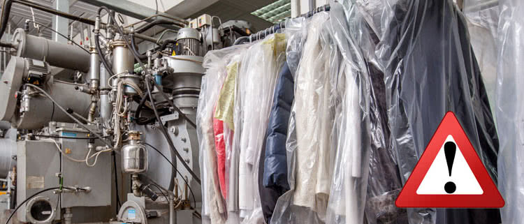 Is taking your wedding dress to the dry cleaners safe