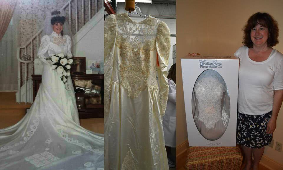 Before after wedding dress restoration gallery for Restoring old wedding dresses