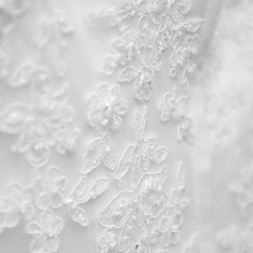 How to get stains out of a lace wedding dress