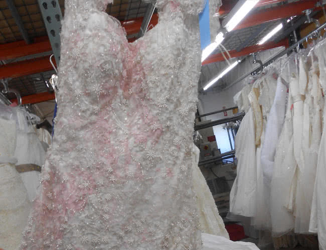 Yellowed wedding dress cleaning for Where to dry clean wedding dress