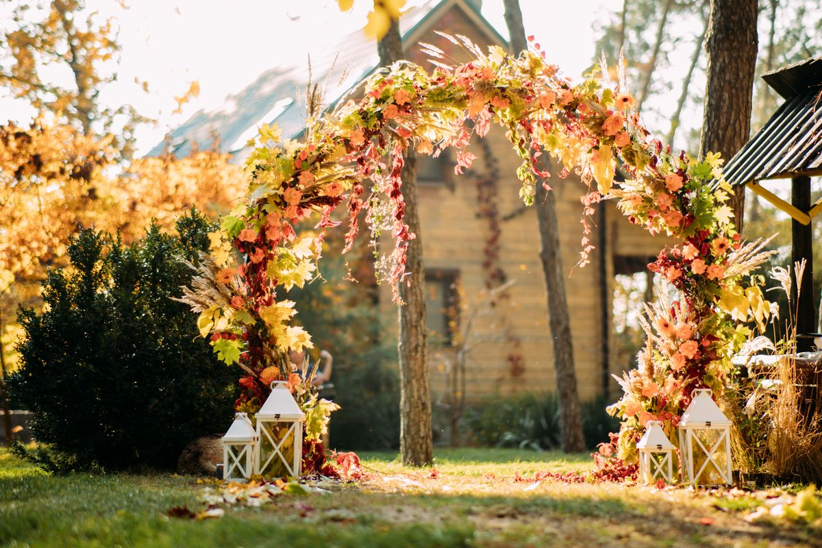 zoom virtual wedding fall background image