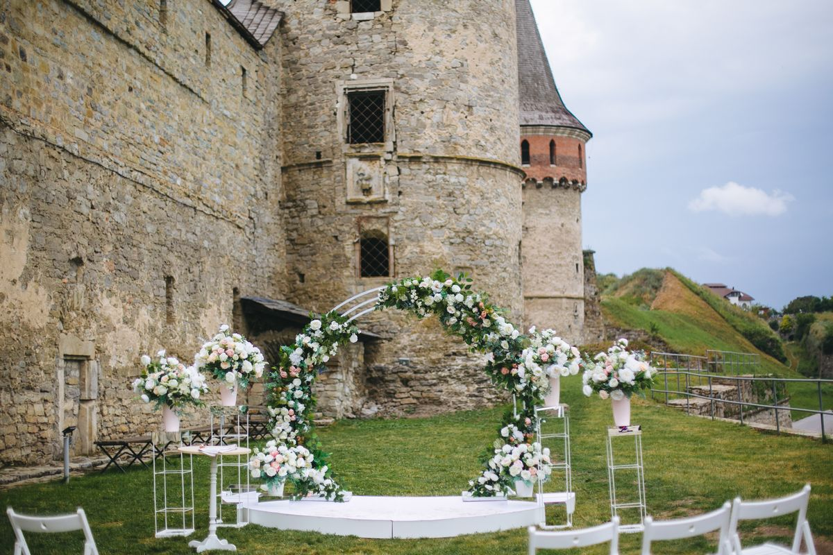 zoom virtual wedding castle background image